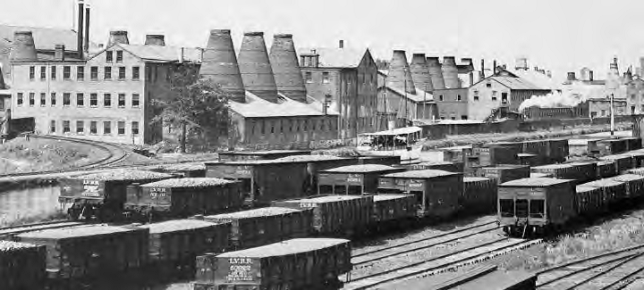 The Enterprise Pottery and the Coalport rail yards circa 1910