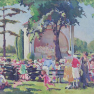 Painting: Sunday Concert in Cadwalader Park, 1931
