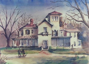Painting: Ellarslie Mansion