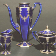 Pottery: Cobalt Blue Coffee Set