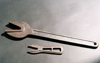 Industrial Artifacts: Roebling Alligator Wrench #3 & Roebling Small Alligator Wrench