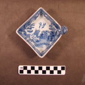 Blue and White Transfer Pattern Cup, Alice Maddock Collection