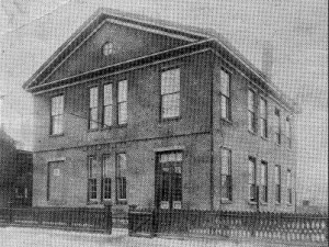 The Higbee Street School was built in 1857 as the first in Trenton to provide free public education for African-American students. It still stands at 20 Bellevue Avenue. Photo courtesy Trentoniana Collection, Trenton Public  Library