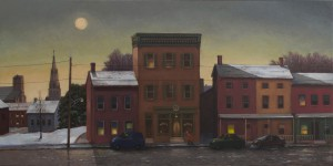 Tom Chesar, Edge of Town - Lambertville, Acrylic