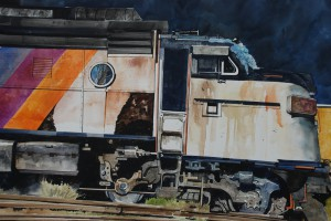 Robert Sakson, Locomotive, Watercolor, Best in Show -- Watercolor