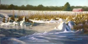 Robert McBride, Cattails - Anker Park, Pastel