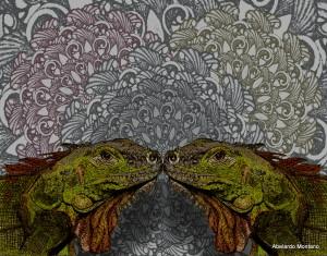 Abelardo Montano, Iguanas Ranas, Print, Best in Show -- Printmaking