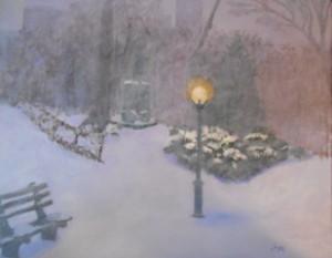 Joyce Parkinson, Snowing in Central Park