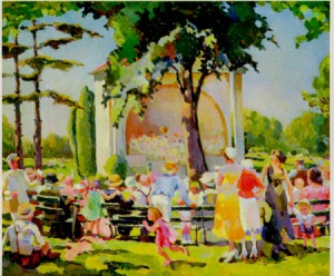 Painting of the bandshell