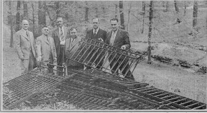 The Trenton Salvage Committee with the Cadwalader Park fence