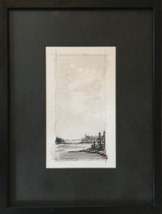 Laurel Daunis-Allen, View from Deer Isle, Jerry's Artarama Award for Runner-Up, Drawing