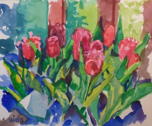 Aida Birritteri, Watercolor Tulips
