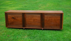 Ru Amagasu, Walnut Triple Cabinet with Solid Doors