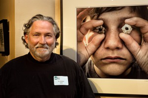 RL DeFalco and his photograph, Barnacle Bill - Best in Show - Photography