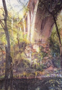 Richard Hoffman, Wissahickon Memorial Bridge, The Honorable Douglas H. Palmer Award for Best in Show - Watercolor
