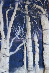 Winter Magic. Fiber Art. Fragment. Nelly Kouzmina