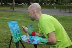 Ry An Painting in the Park