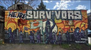 """We Are Survivors Wall"" by Leon Rainbow"