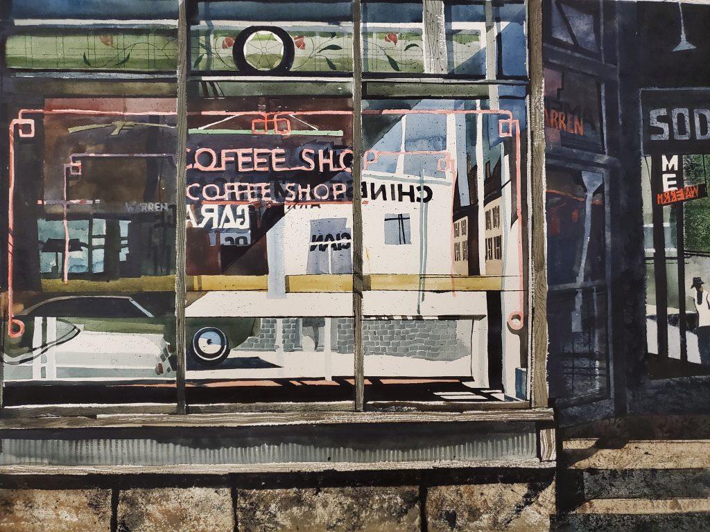 """Coffee Shop, Warren Street"" by Robert Sakson"