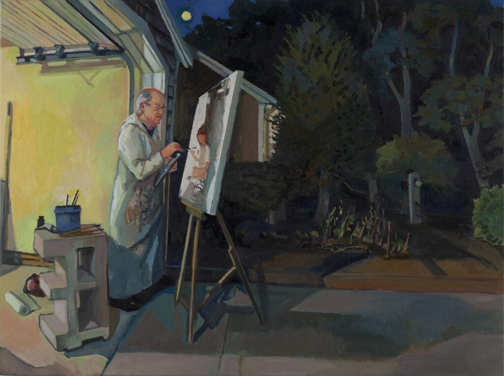 Mel Leipzig Painting Under the Full Moon, Dan Finaldi