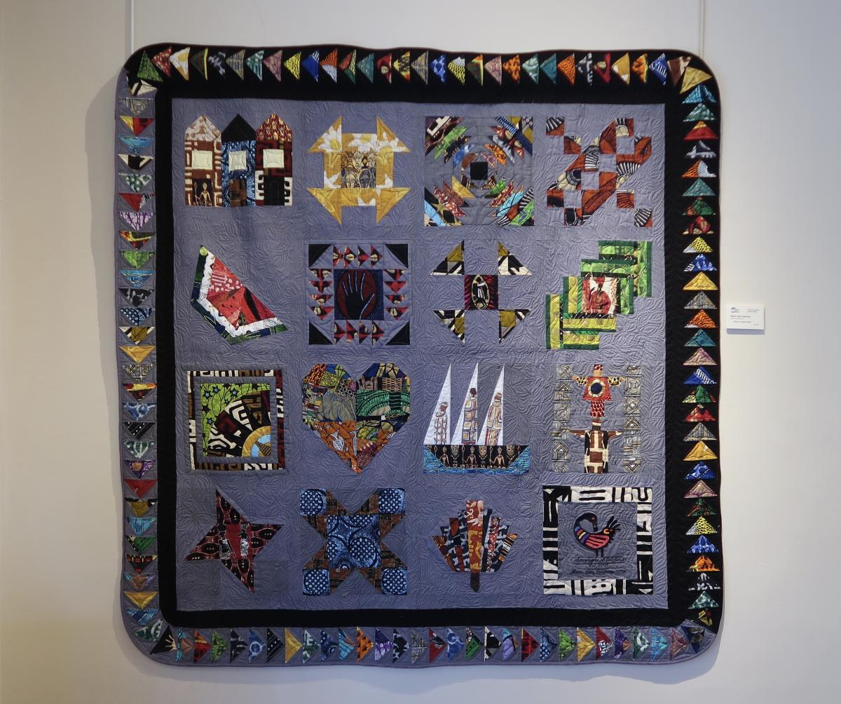 African Travels Home by Mada Coles Galloway of the Princeton Sankofa Stitchers MQG