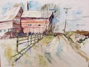 Barn on Country Road - Lambertville