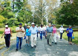 David Bosted leads Cadwalader Park walking tour