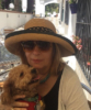 Joan with her dog