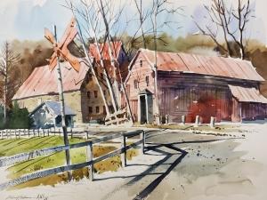Strawbuck Barn and RR Crossing