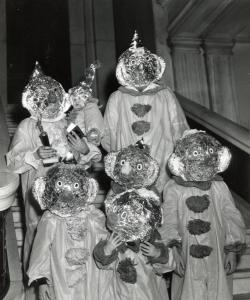 family in costume 1961